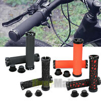 1Pair Bike Grips Rubber Mountain Bicycle MTB Handlebar Ergonomic Cycling Lock On