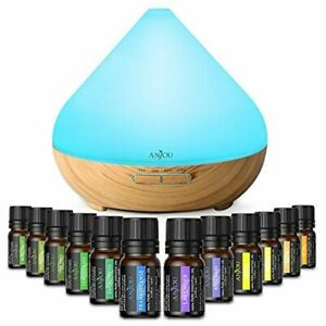 Anjou Essential Oils Diffuser 300ml Aromatherapy WITH OILS INCLUDED