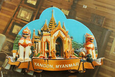 YANGON, MYANMAR Tourist Travel Souvenir 3D Resin Fridge Magnet Craft GIFT IDEA