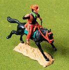 Timpo Toys Cowboy 4th version riding with Two Pistols - Rare Red Lower Part