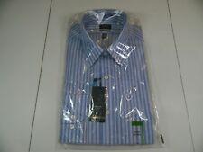 Arrow Heritage Poplin Classic Fit Dress Shirt Blue Stripe Long Slv 16 34-35
