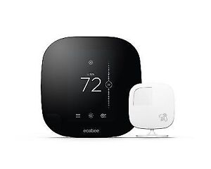 ecobee ecobee3 2nd Generation Smart Wi-Fi Thermostat  - Black (EB-STATE3-O2)