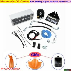 Waterproof Fans Oil Cooler Assembly For Harley Dyna Wide Glide FXDWG 1993-2017