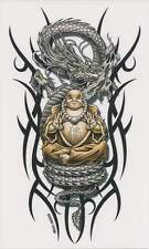 BUDDHA'S CHAIR & SERPENT DRAGON Tribal Markings Tablet Sticker Toolbox Decal