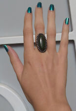 VINTAGE INDIAN STERLING SILVER CERRILLOS TURQUOISE RING SIZE 4