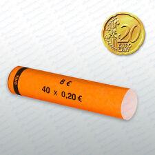 Münzhülsen  20 Cent  105 Stück Münzrollen Münzen