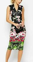 Ted Baker Mirrored Tropics Floral Dress Size 1 UK 8 BNWT RRP £159