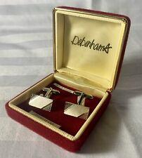 VINTAGE GERMAN GERMANY DIAMOND CUT CUFFLINKS In Original Debenhams Case