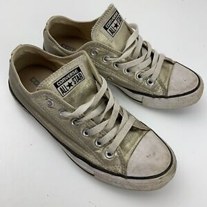 Converse All Star Chuck Taylor Gold Low Shoe Size Men's 5 Women's 7 (153181F)