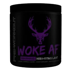 Bucked Up Woke AF High Stim Pre-Workout 30 Servings - Grape