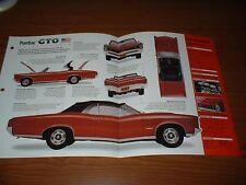 ★1966 PONTIAC GTO CONVERTIBLE SPEC SHEET BROCHURE POSTER PRINT PHOTO INFO 66 389