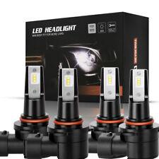 4 Bulb Kit 9005 9006 Fanless LED 498000LM Combo Headlight High Low Beam Advanced