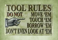 tool rules tin metal sign country kitchen decor