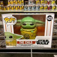 "Funko Pop Star Wars : Mandalorian : The Child with Bag #405 Vinyl w/case ""MINT"""