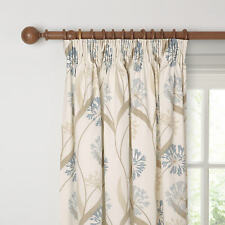 Maggie Levien for John Lewis Ariana Lined Pencil Pleat Curtains, Duck Egg