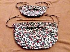New ListingLongaberger Small Purse Liner Traditional Holly #208427 & Kiddie Purse Liner