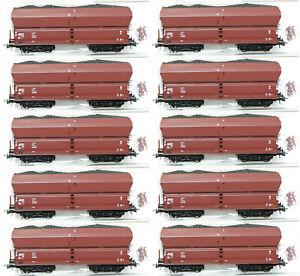 Roco H0 56333-S Selbstentladewagen mit Kohleeinsatz der DR (10 Stück) NEU + OVP