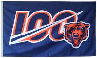Chicago Bears 100th Season Flag 100 NFL 3x5ft Banner Anniversary Football