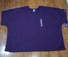 Cherokee Women's Plus Size Scrub Top 5Xl Purple Short Sleeve V Neck
