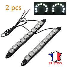 2x Feux de jour/ feux de freinage/ feux de recul/ feux de décoration 9 LED/ Pcs