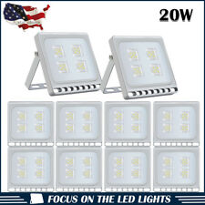 10 X 20W Led Flood Light Outdoor Security Lighting Cool White Slim Lamp Us Stock