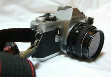 Pentax MG Film Camera with Strap 50mm Asahi Lens & case