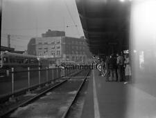 ORIGINAL PHOTO NEGATIVE-Railroad Upper Darby  Pennsylvania Station