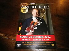 ANDRE RIEU - Flyer !!! OCTOBRE 2012 !!!