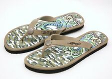 New Ed Hardy Men's 'Tattoo Snake' Beach Thong Sandal Flip Flop ~Olive *11