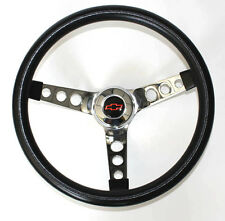 "Chevy Pick Up Blazer GRANT Black Steering Wheel 13 1/2"" Red/Black Bowtie Cap"