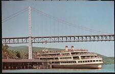 BEAR MOUNTAIN DOCK NY Hudson River Dayliner Ship Vtg NYC City Postcard Old PC