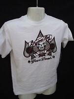 BNWT Boys Piping Hot Brand White Skull Logo T Shirt Sizes 7 8 9 10 12 14 and 16