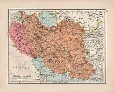 1924 PRINT ~ PERSIA & IRAQ ~ FARSISTAN KERMAN KHURASAN