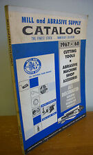 MILL & ABRASIVE SUPPLY CATALOG 1967-68 Cutting Tools & Machine Shop Accessories