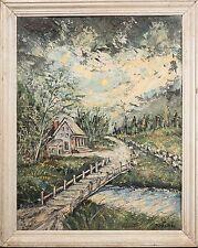 Isadore Louis Firestone Original Oil Painting, Beautiful Heavy Impasto Landscape