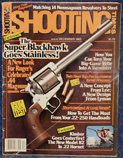 Magazine SHOOTING TIMES, December 1982 RUGER Stainless SUPER BLACKHAWK Revolver