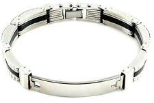 bracciale uomo acciaio inox a maglia braccialetto catena in con da semi rigido