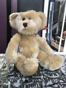 Stunning Vintage Twinings Handmade Teddy Bear Named Kipling by Russ Berrie & Co