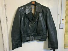 VINTAGE 40's GERMAN AERO LEATHER MOTORCYCLE FLYING JACKET SIZE S