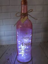 18TH BIRTHDAY GIFT GIRLS 18TH  LIGHT UP MESSAGE BOTTLE 18TH PARTY CENTER PIECE