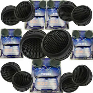 5 Pairs 2000W Total Power Super High Frequency Mini Dome 1 Inch Car Tweeters 5x