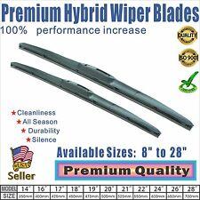 """16"""" + 16"""" Premium  Windshield Wiper Blades  OEM Quality J-Hook"""