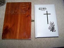 NEW AMERICAN BIBLE MEMORIAL EDITION HOLY BIBLE WITH CEDAR BOX, COPYRIGHT 1976