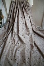 BEIGE JACQUARD CURTAINS,66Wx91D,TRELLIS,CHENILLE SPOTS,LINED,HEAVY,PLEAT,+TIES