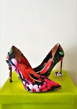 Ted Baker Neevo Tropical Toucan Floral Evening Court Shoes Uk 6 39*Dress Bag Lst