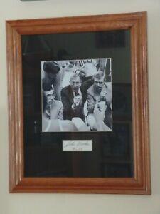 John Wooden signed framed photo