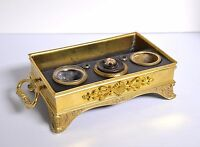 Antique early 19th century Empire Inkwell of Gilt Bronze