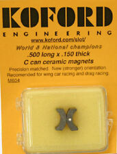 Koford .500 long x .150 thick C-Can Ceramic Magnets for 1/24 Slot Car