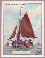 Square Rigged Mediterranean Pink Sailboat Craft 1920s Ad Trade Card
