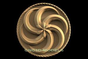 3D Model STL for CNC Router Engraver Carving Artcam Aspire Decor Roseta f652